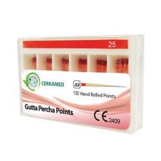 Gutaperčové čepy 2% označené